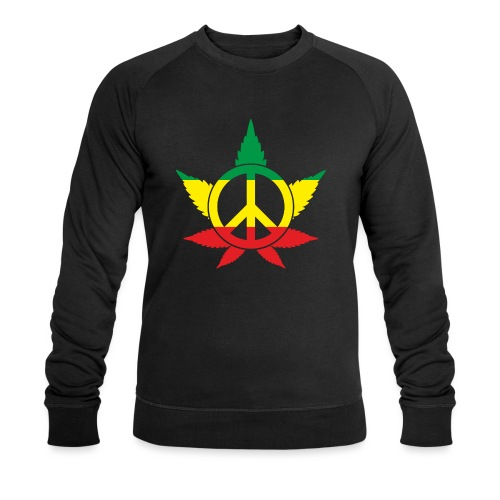 Peace färbig - Männer Bio-Sweatshirt von Stanley & Stella