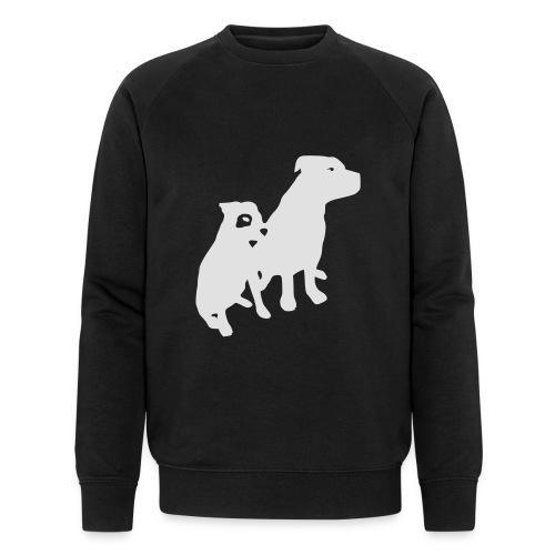 Doggy / zwei brave Hunde zum verschenken - Männer Bio-Sweatshirt