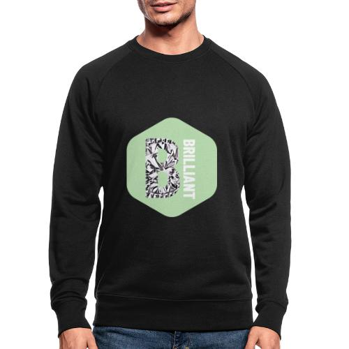 B brilliant green - Mannen bio sweatshirt