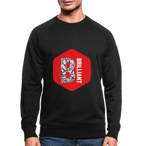B brilliant red - Mannen bio sweatshirt