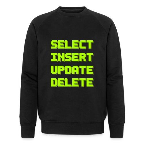 SQL pixelart black - Männer Bio-Sweatshirt