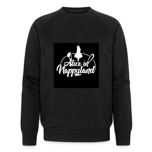 Alice in Nappyland TypographyWhite 1080 - Men's Organic Sweatshirt by Stanley & Stella