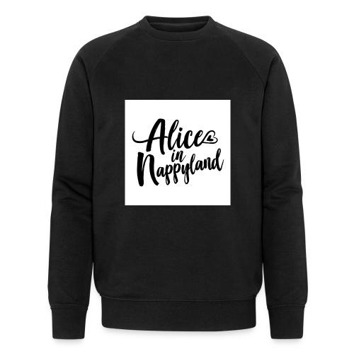 Alice in Nappyland Typography Black 1080 1 - Men's Organic Sweatshirt