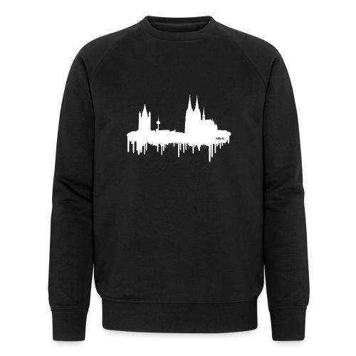 Skyline Köln - Weiß - Männer Bio-Sweatshirt von Stanley & Stella