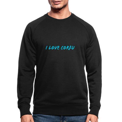 I Love Corfu Griechenland - Männer Bio-Sweatshirt