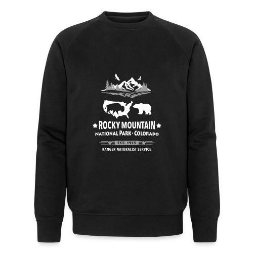 Rocky Mountain Nationalpark Berg Bison Grizzly Bär - Men's Organic Sweatshirt by Stanley & Stella