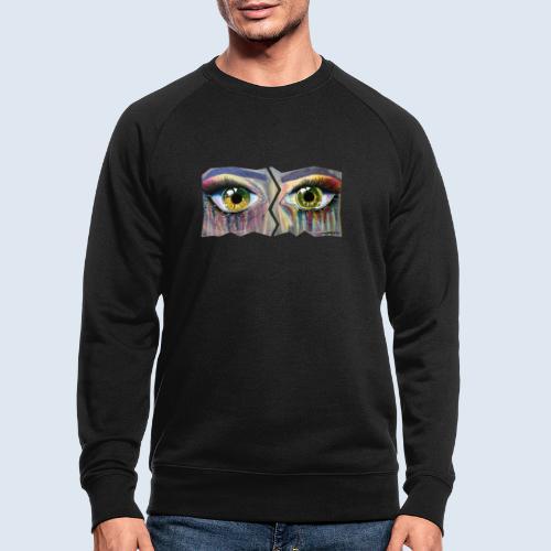 """Augenblick """"open eyes"""" made in Berlin - Männer Bio-Sweatshirt"""