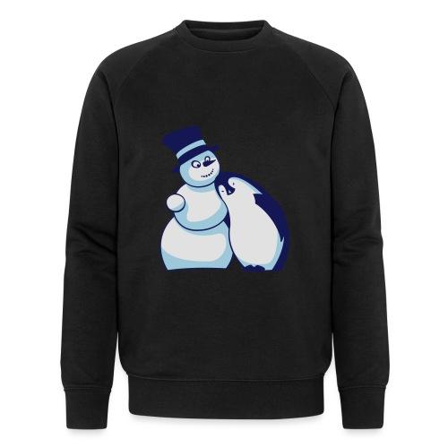 Schneemann und Pinguin - Männer Bio-Sweatshirt