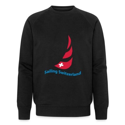 logo sailing switzerland - Männer Bio-Sweatshirt
