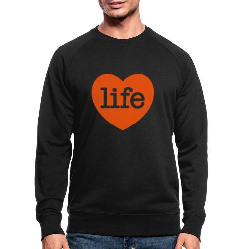LOVE LIFE heart - Men's Organic Sweatshirt
