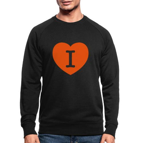 I - LOVE Heart - Men's Organic Sweatshirt