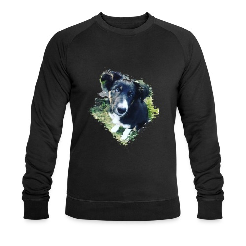 colliegermanshepherdpup - Men's Organic Sweatshirt by Stanley & Stella