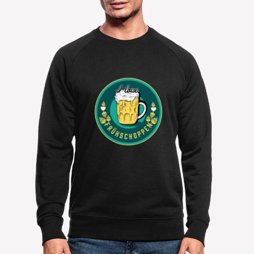 I love Frühschoppen - Männer Bio-Sweatshirt