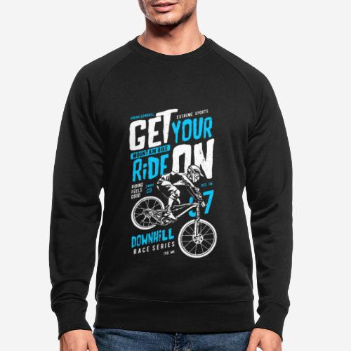 Radfahrer Biker - Männer Bio-Sweatshirt