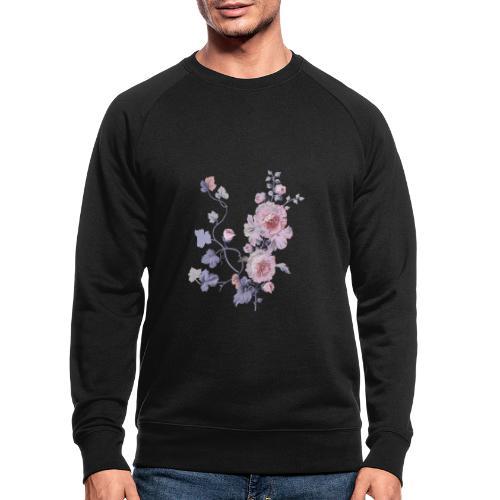 Schlichte Blumen - Männer Bio-Sweatshirt