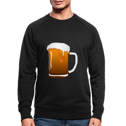 Cartoon Bier Geschenkidee Biermaß - Männer Bio-Sweatshirt