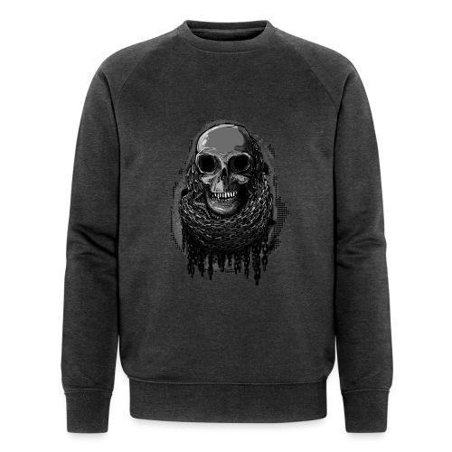 Skull in Chains - Men's Organic Sweatshirt by Stanley & Stella