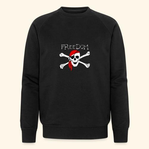 Freiheit Pirat Totenkopf - Männer Bio-Sweatshirt von Stanley & Stella