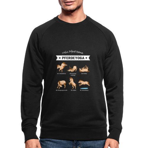 Pferdeyoga - Männer Bio-Sweatshirt