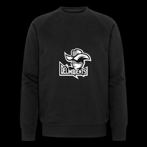 Delinquents Sort Design - Økologisk sweatshirt til herrer