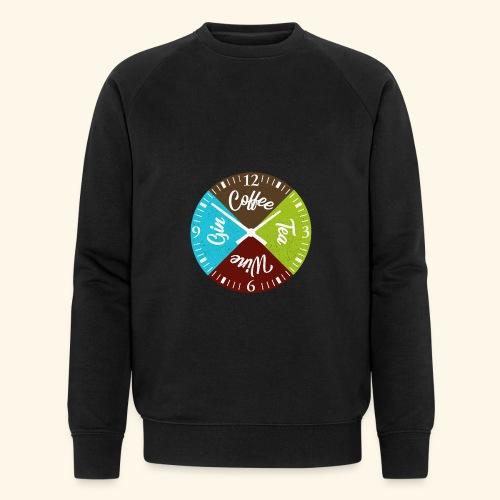 Witzige Getränke Uhr Kaffee Tee Wein Gin Genießer - Männer Bio-Sweatshirt von Stanley & Stella