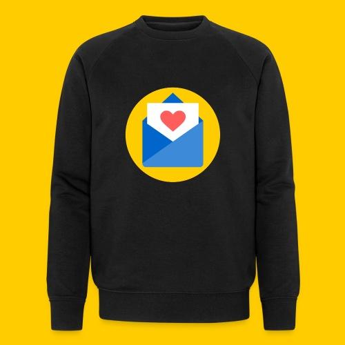 Liebesbrief-transparent - Männer Bio-Sweatshirt