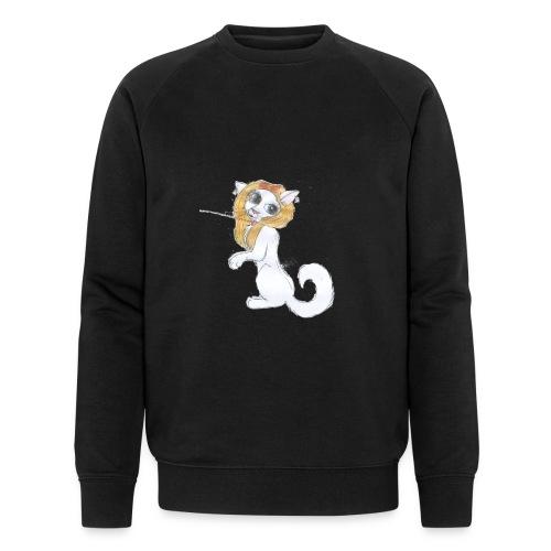 Comic Katze - Männer Bio-Sweatshirt von Stanley & Stella