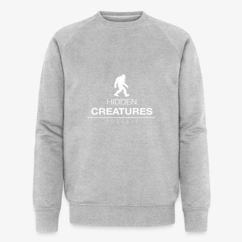 Hidden Creatures Logo White - Men's Organic Sweatshirt