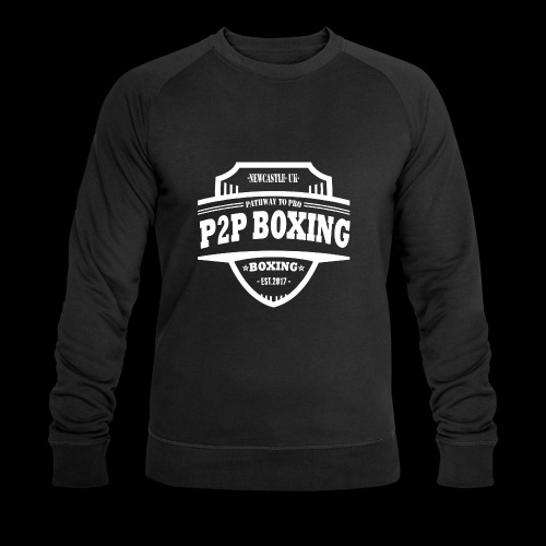 P2P Boxing White Logo - Men's Organic Sweatshirt by Stanley & Stella