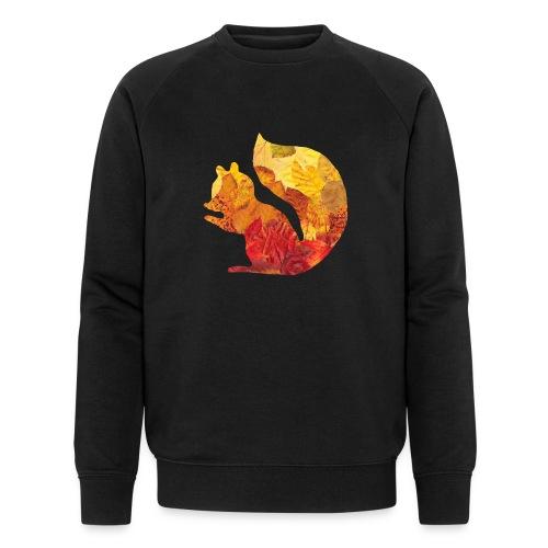 Eichhörnchen aus Blätter - Männer Bio-Sweatshirt