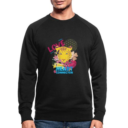 Design Heart Connector - Mannen bio sweatshirt