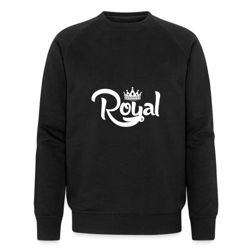 Royal Logo White Edition - Men's Organic Sweatshirt by Stanley & Stella