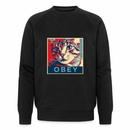 Obey the Cat! - Männer Bio-Sweatshirt von Stanley & Stella