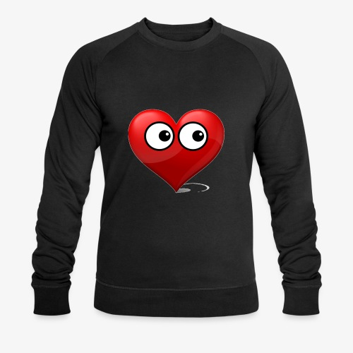 cœur avec yeux - Sweat-shirt bio Stanley & Stella Homme