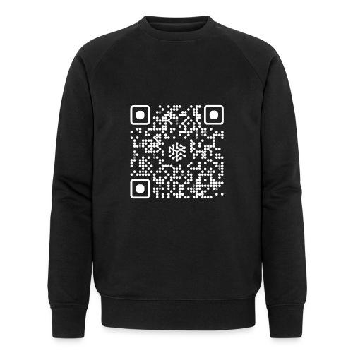 QR Safenetforum White - Men's Organic Sweatshirt by Stanley & Stella