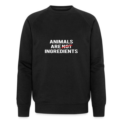 Animals Are Ingredients - Men's Organic Sweatshirt