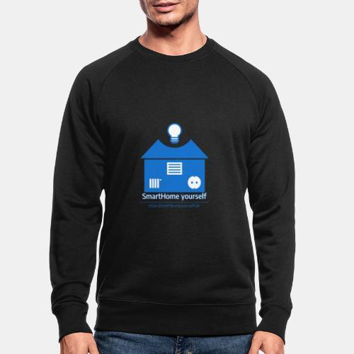 SmartHome yourself Logo Groß - Männer Bio-Sweatshirt