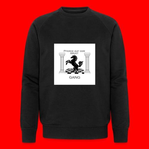 Pferde Auf Der Brust Gang - Männer Bio-Sweatshirt