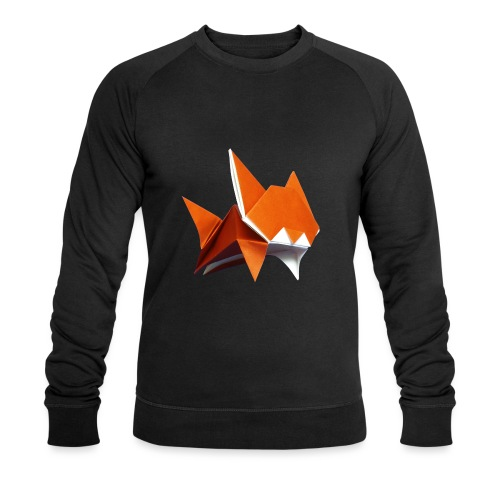 Jumping Cat Origami - Cat - Gato - Katze - Gatto - Men's Organic Sweatshirt
