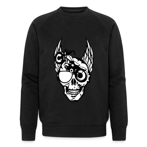 tete mort moto skull aile motard oeil - Sweat-shirt bio Stanley & Stella Homme