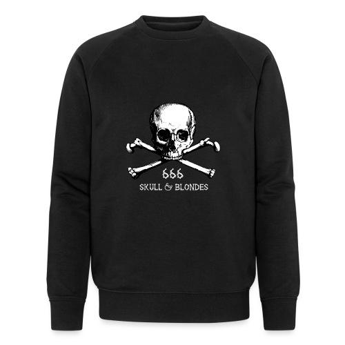 skull & blondes (white) - Männer Bio-Sweatshirt