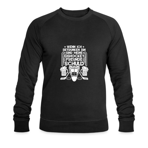 Lustiges Bier Eishockey Geschenk Hockey Freunde - Männer Bio-Sweatshirt von Stanley & Stella