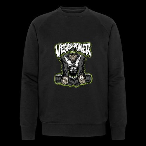 veganpower Muskel Gorilla - Männer Bio-Sweatshirt von Stanley & Stella