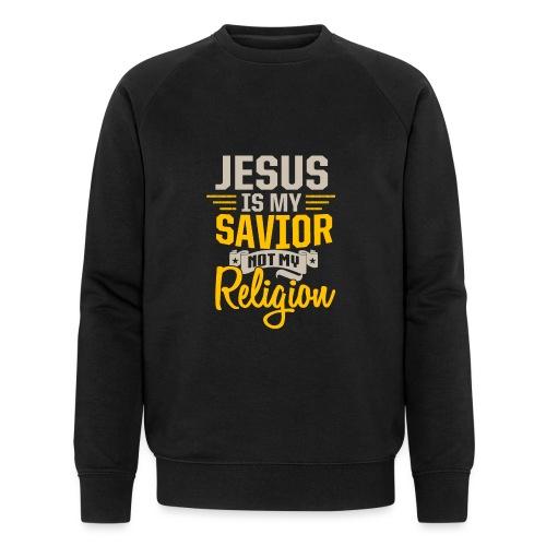 Jesus ist mein Erlöser - Männer Bio-Sweatshirt von Stanley & Stella