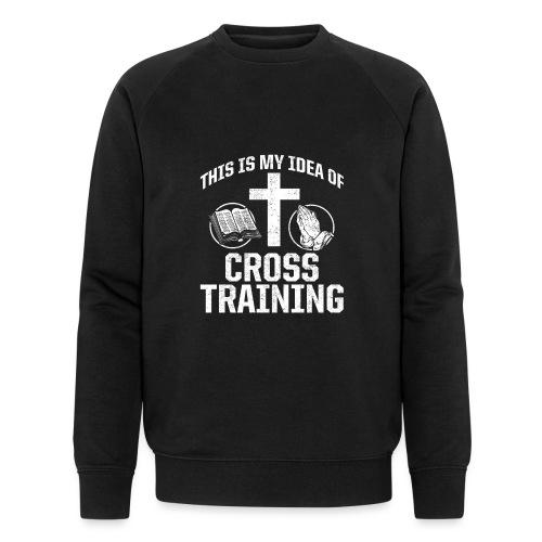 Sport mit Jesus und Bibel lesen Christen Spruch - Männer Bio-Sweatshirt von Stanley & Stella