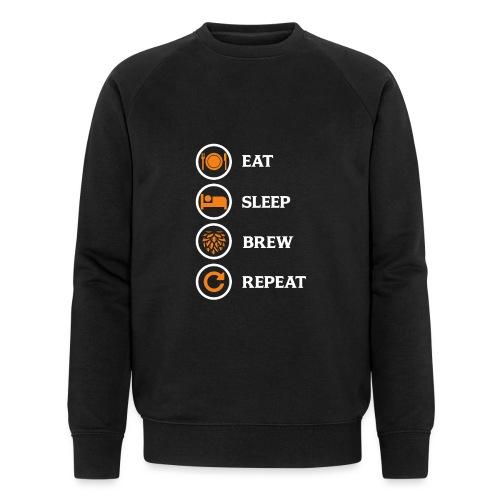 Eat Sleep Brew Repeat Brewers Gift - Men's Organic Sweatshirt by Stanley & Stella