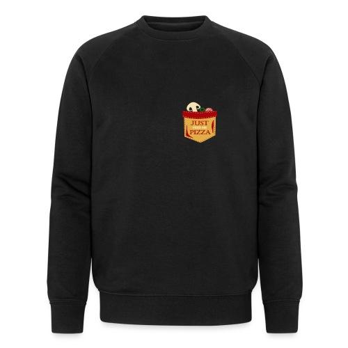 Bare mat meg pizza - Økologisk sweatshirt for menn fra Stanley & Stella
