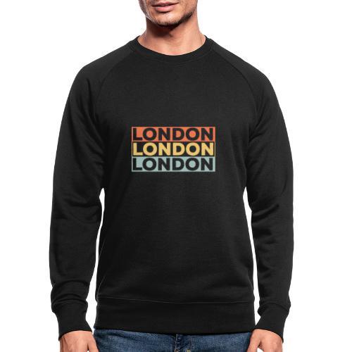 Vintage London Souvenir - Retro Streifen London - Männer Bio-Sweatshirt