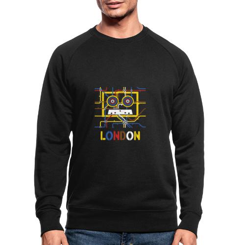 London Tube Map Underground - Männer Bio-Sweatshirt