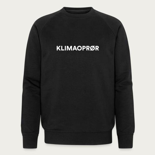 Klimaoprør - Økologisk sweatshirt til herrer